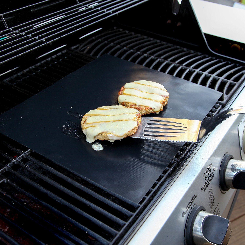 Amazon Com Yumms Bbq Grill Mat Set Of 2 15 X13 Patio Lawn