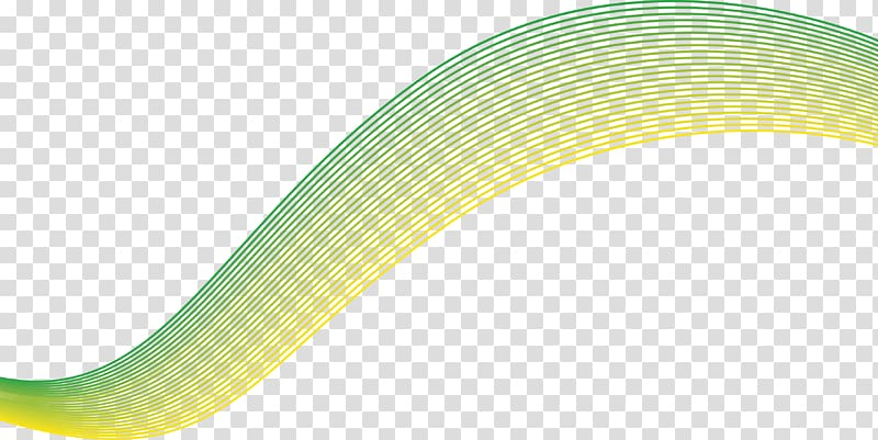 Green And Yellow Decor Yellow Material Pattern Science And Technology Lines Transparent Background Png Clip Transparent Background Clip Art Wave Illustration