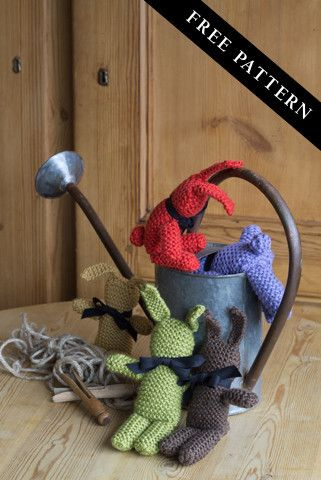 Sweet Little Bunnies To Knit Quick And Easy Pattern Uses Debbie