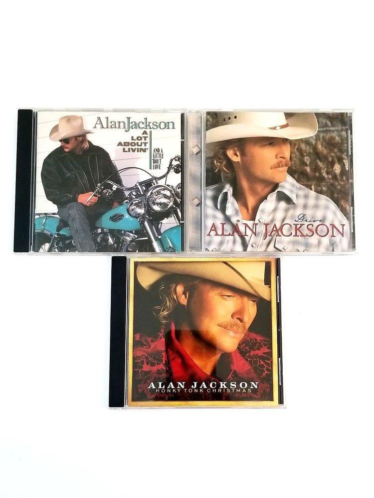 alan jackson lot of 3 music cds honky tonk christmas a lot about livin drive - Alan Jackson Honky Tonk Christmas