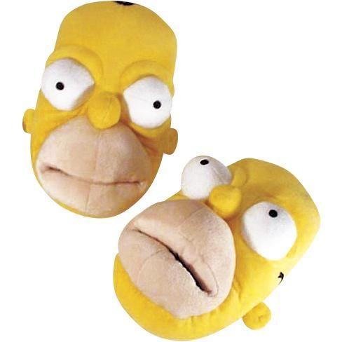 Homer Simpsons -tohvelit, 100% polyesteria. Liukumaton pohja.