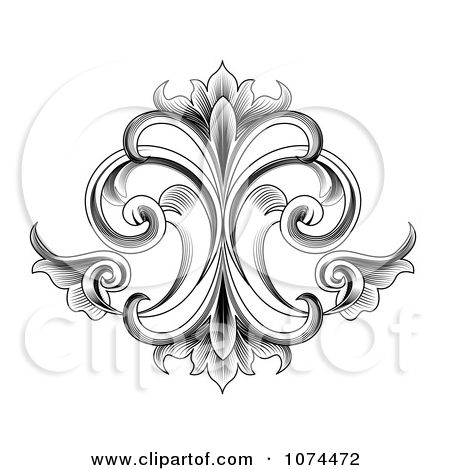 Black And White Designs Clip Art 1074472 Clipart Black And White Engraved Victorian Floral Desi Free Vector Illustration Glass Etching Designs Picture Design