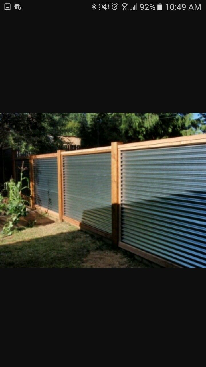 Xclusive fences and rails | Fences◇ | Corrugated metal