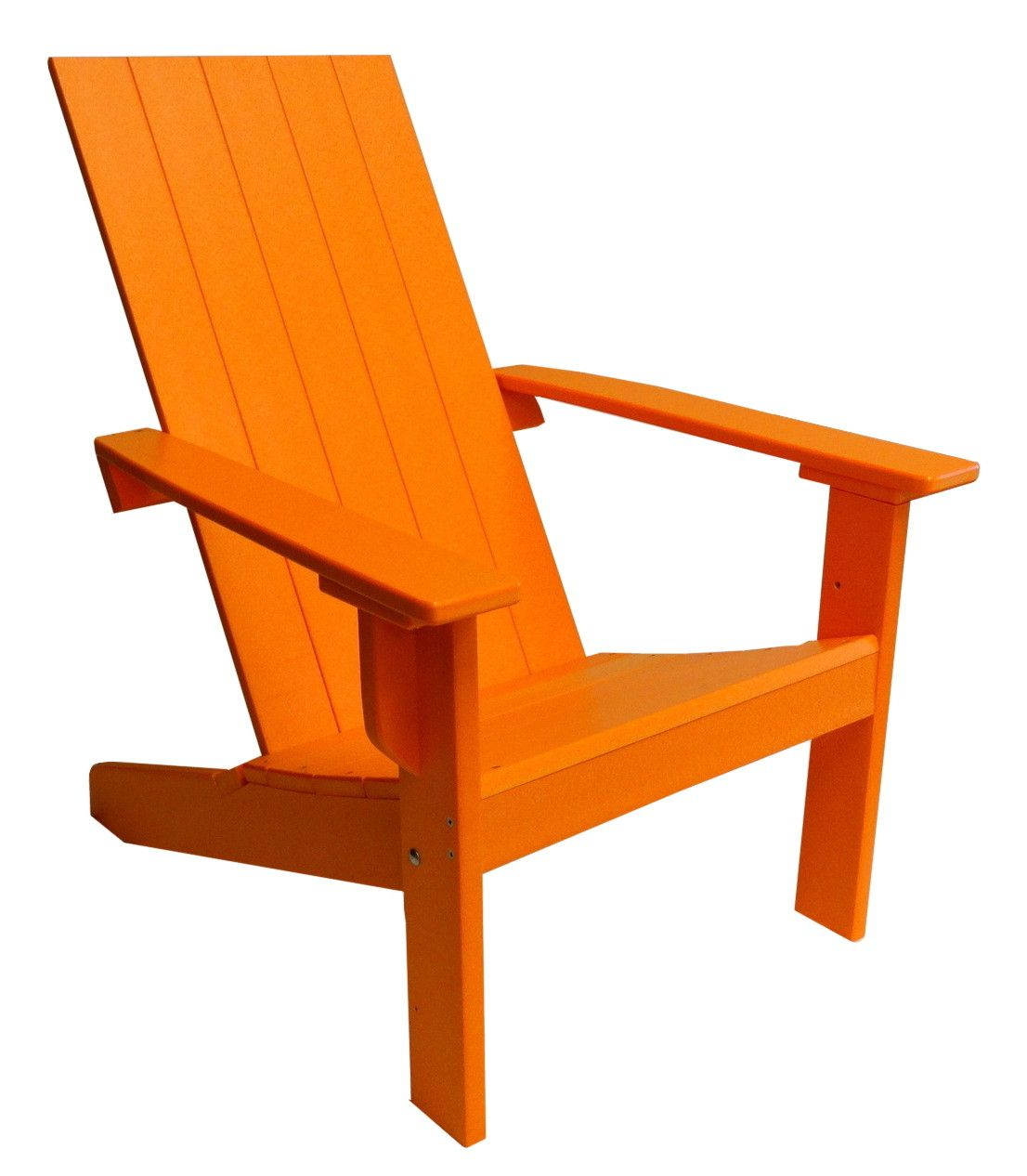 modern adirondack chair with square back made from poly  cottage  - modern adirondack chair with square back made from poly