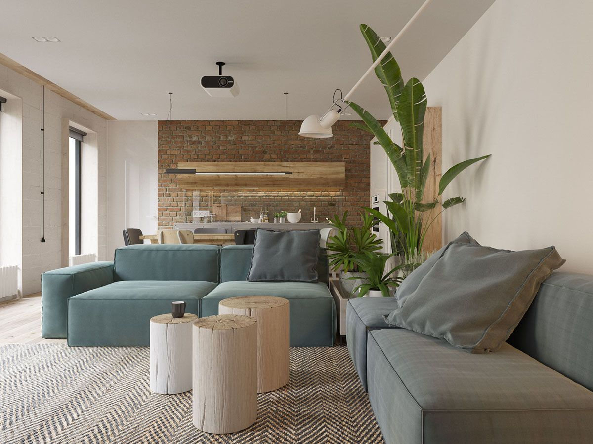 White Walls And Exposed Brick Go Minimalist In This Couple S Retreat Living Room Styles Living Room Designs Beautiful Living Rooms