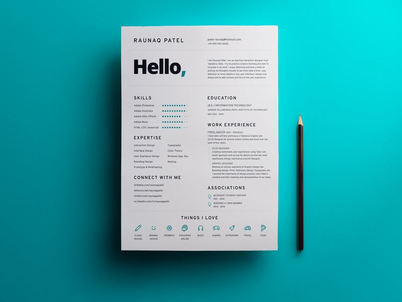 My Resume Ux designer, Ui ux and Cv design - user experience designer resume