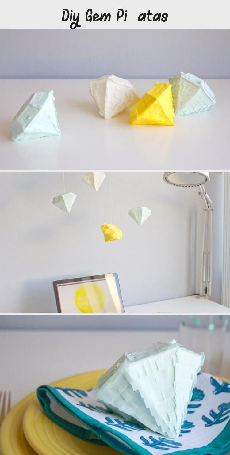 Photo of DIY Gem Piñatas #weddinganniversary #anniversary #partythemes #celebrate #Pinat…