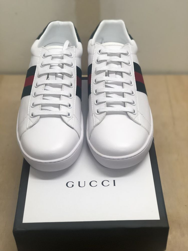 a8a9dbddb6a GUCCI Ace Mens Sneakers Signature Red and Green US Size 10  fashion   clothing  shoes  accessories  mensshoes  casualshoes (ebay link)