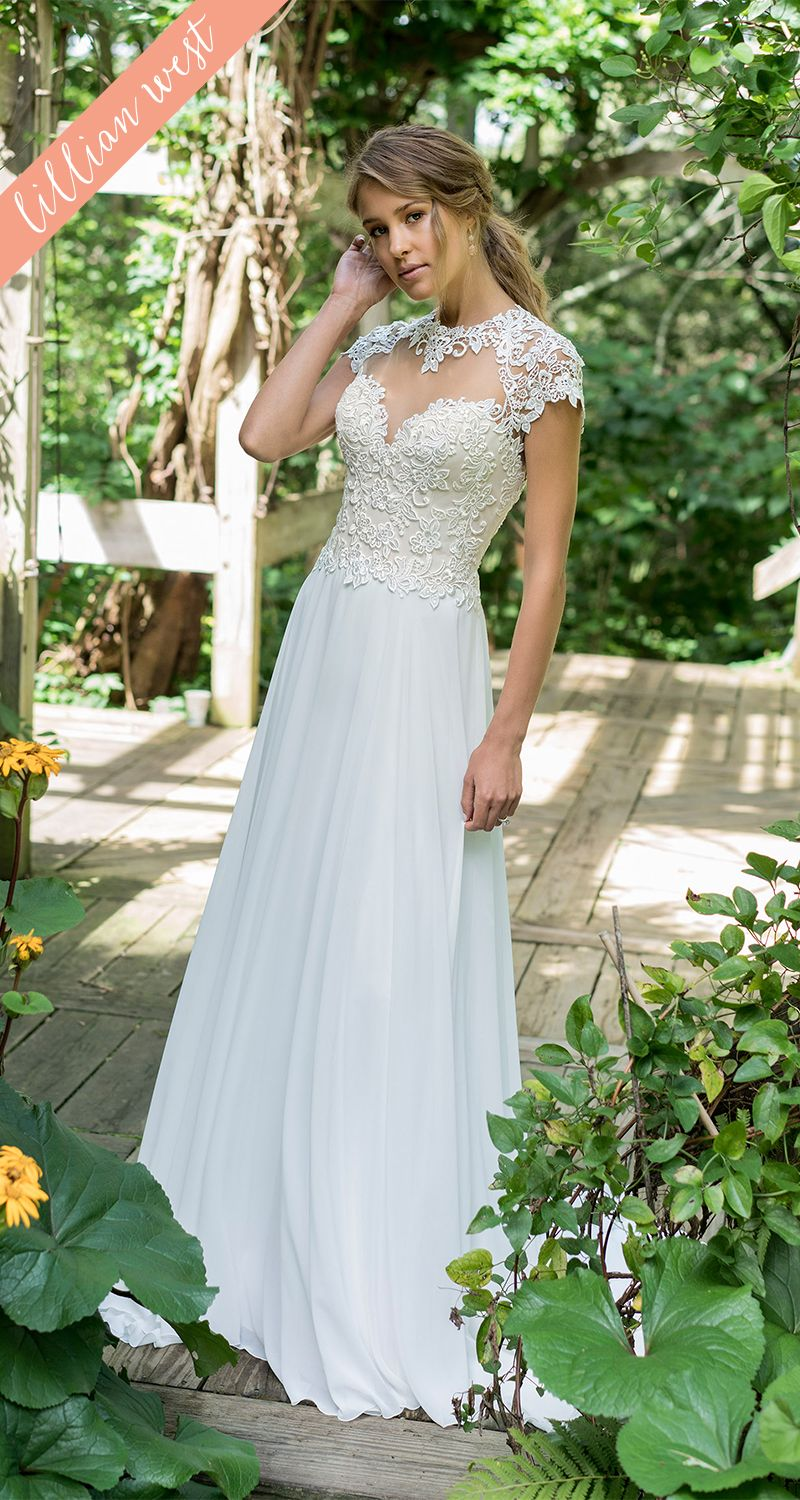 Drop waist a line wedding dress  Style  Look dreamy and sweet in this dropped waist slim Aline