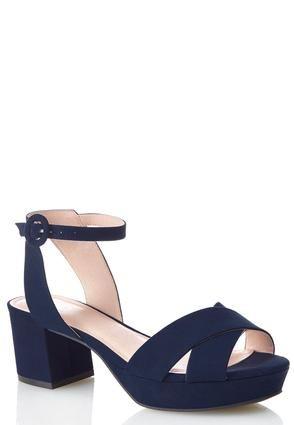 0d1baf05f64 Cato Fashions Cross Band Block Heeled Sandals  CatoFashions