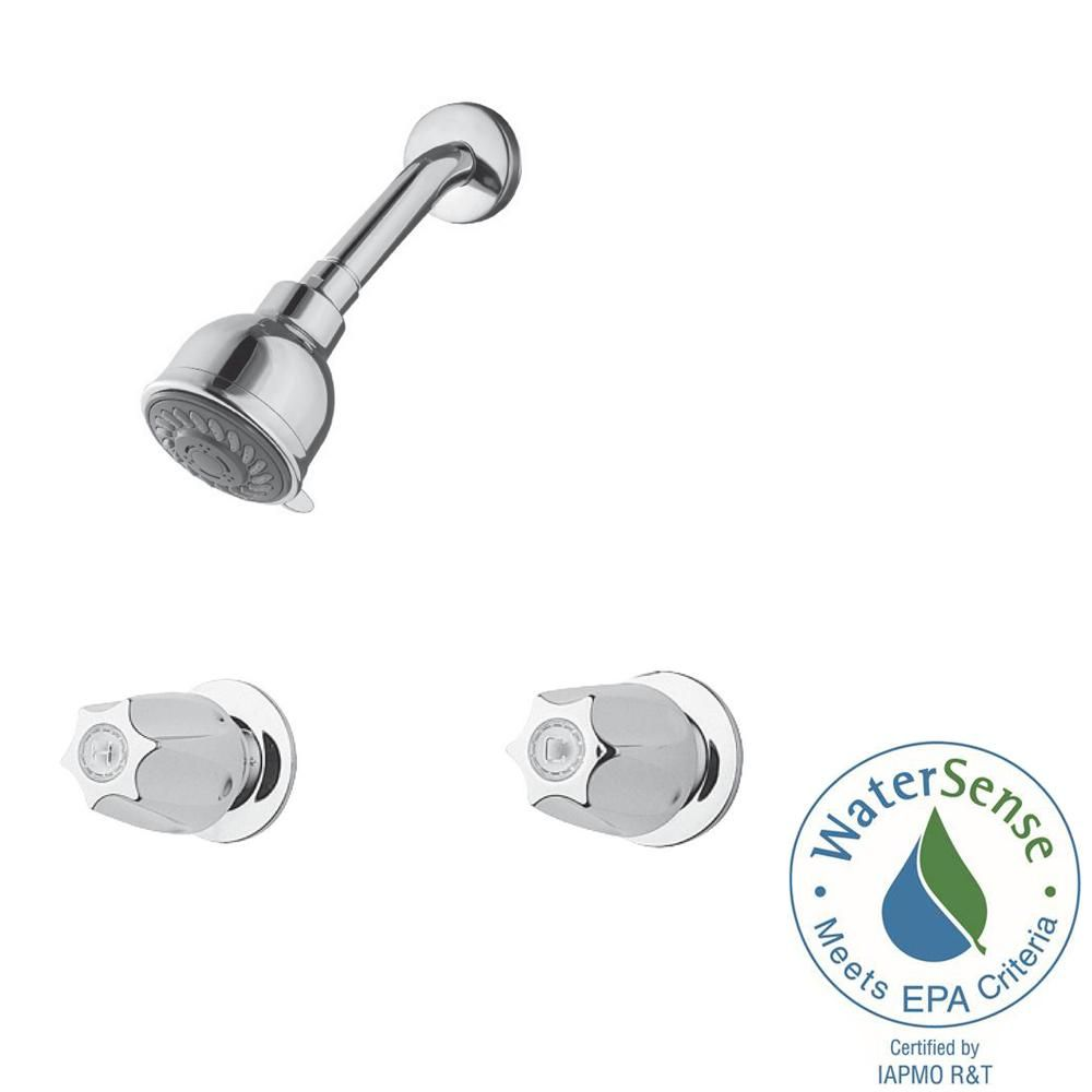Pfister 2 Handle 3 Spray Shower Faucet In Polished Chrome Valve