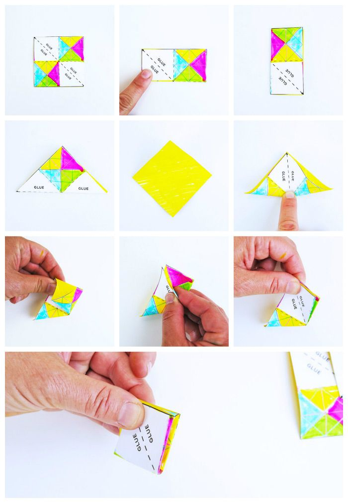 Mini Paper Folded Stars A Colorful Art Project With Reveal