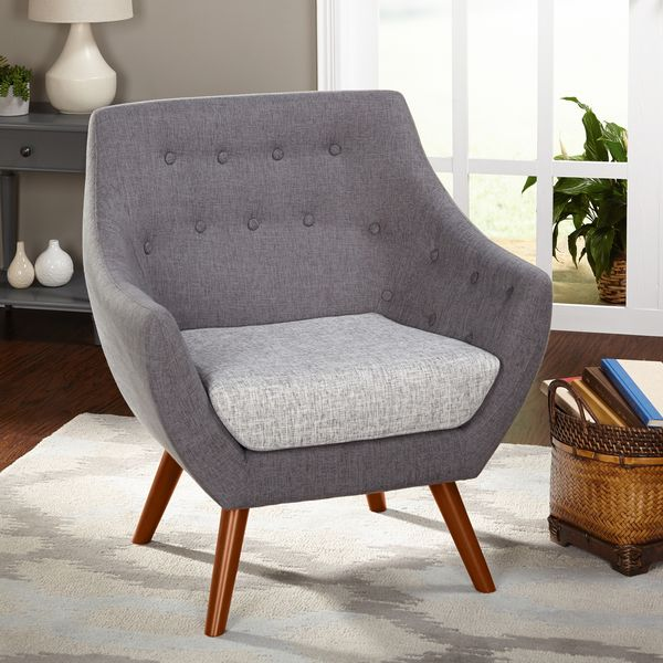 Simple Living Elijah Heather Grey Fabric Chair (Elijah Chair ...