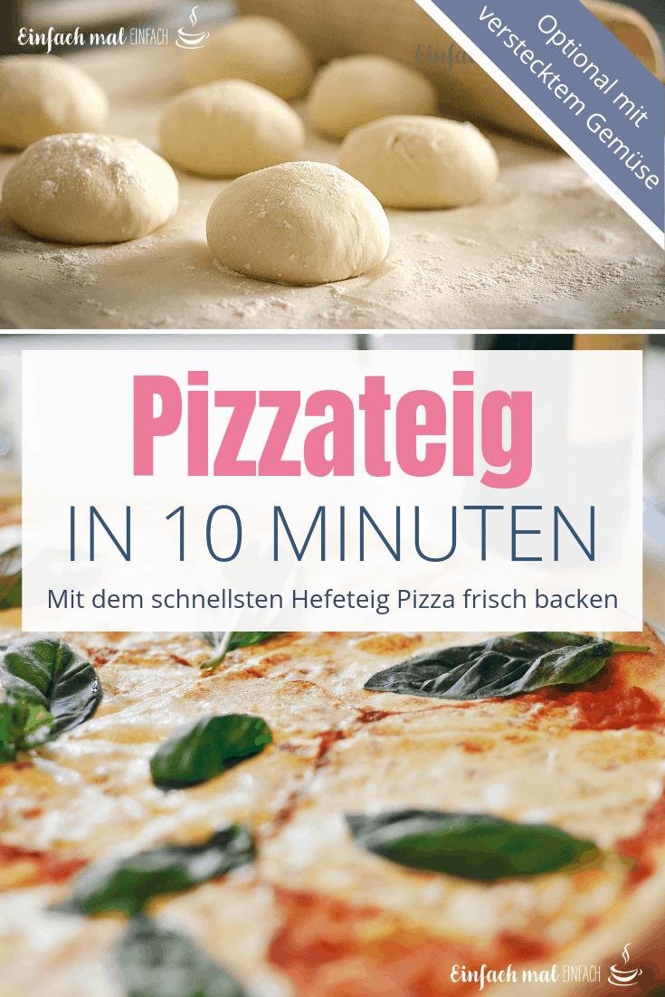 Schneller Pizzateig in 10 Minuten #pizzateigmittrockenhefe