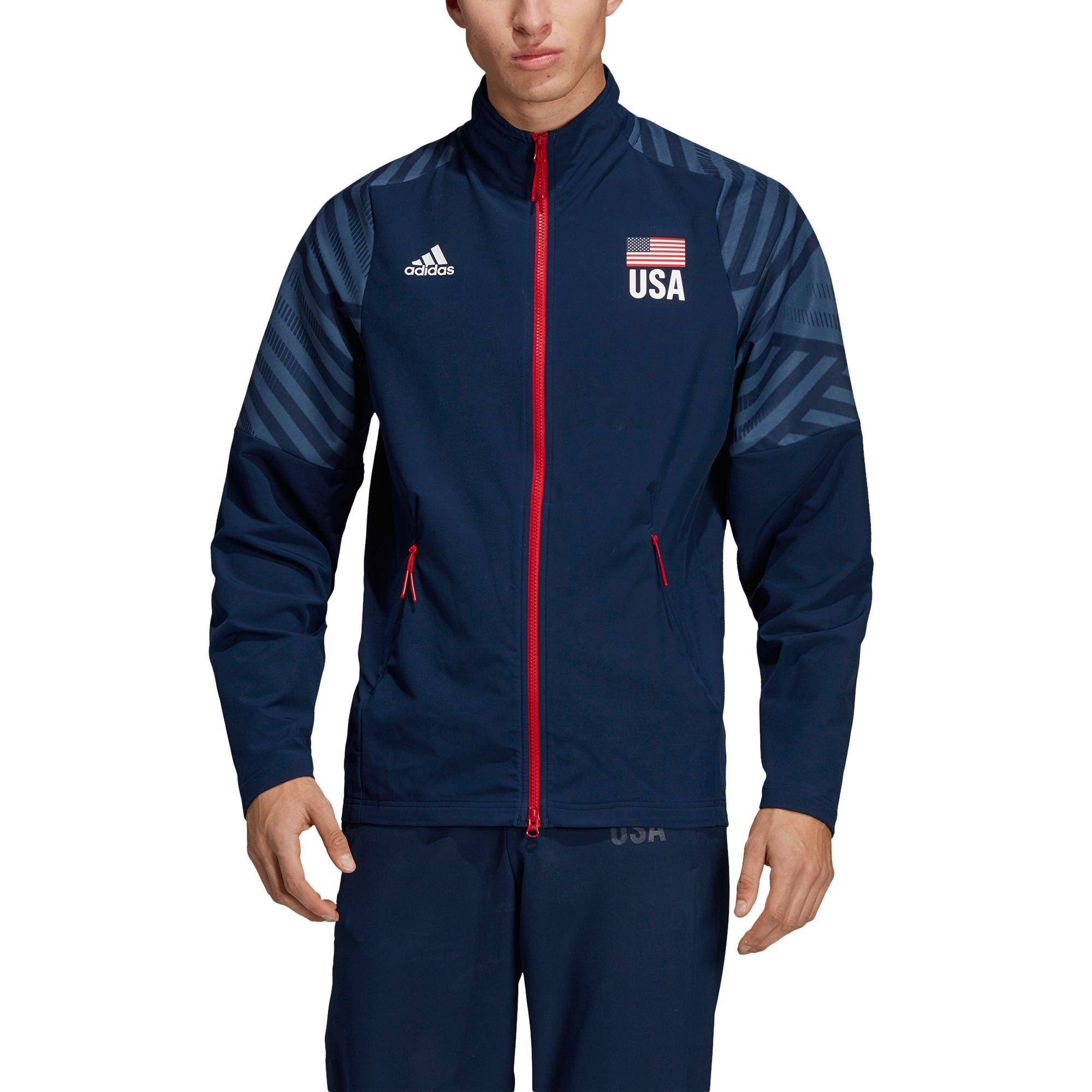 Adidas Men's USA Volleyball Warm Up Jacket in 2019