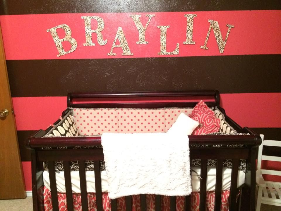 Raspberry Dot Nursery For Baby Braylin By Mommy Jesica R Very Cute We Re Loving The Wall Colors Browse Entire Crib Bedding Collection