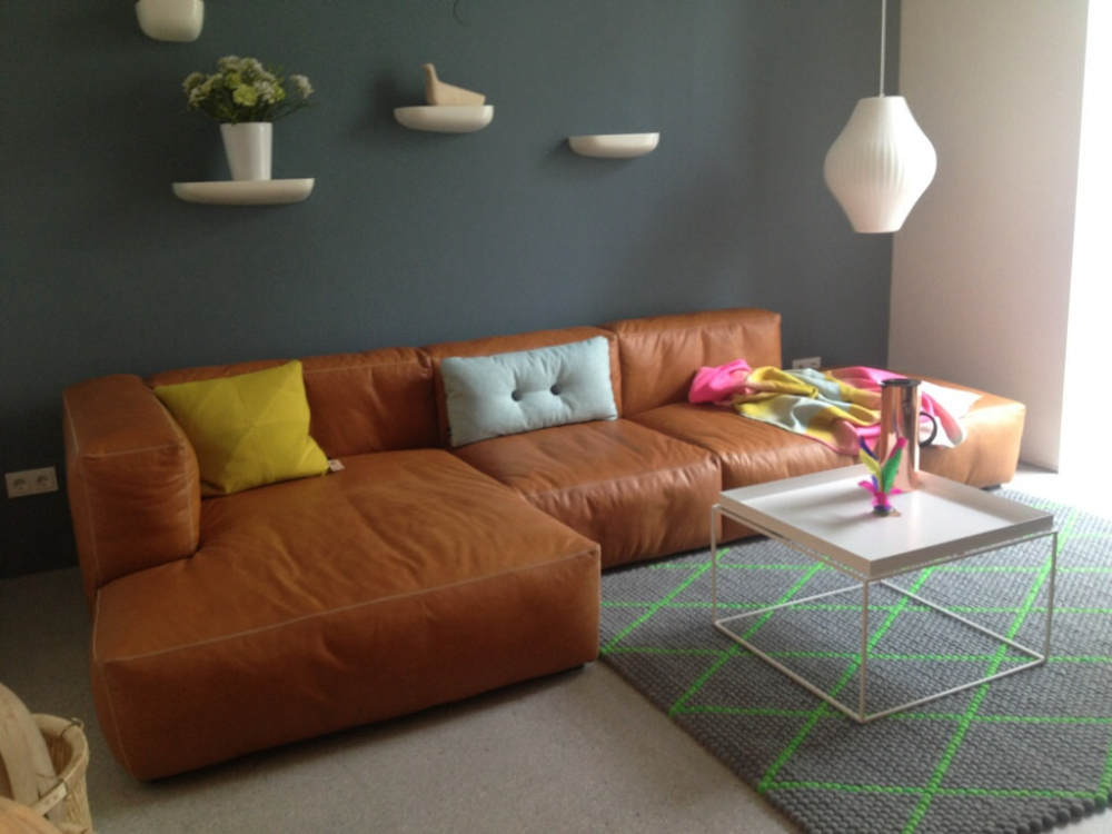 Mags Hay Sofa Leder Wohnzimmer Modul Sofa Couch Leder