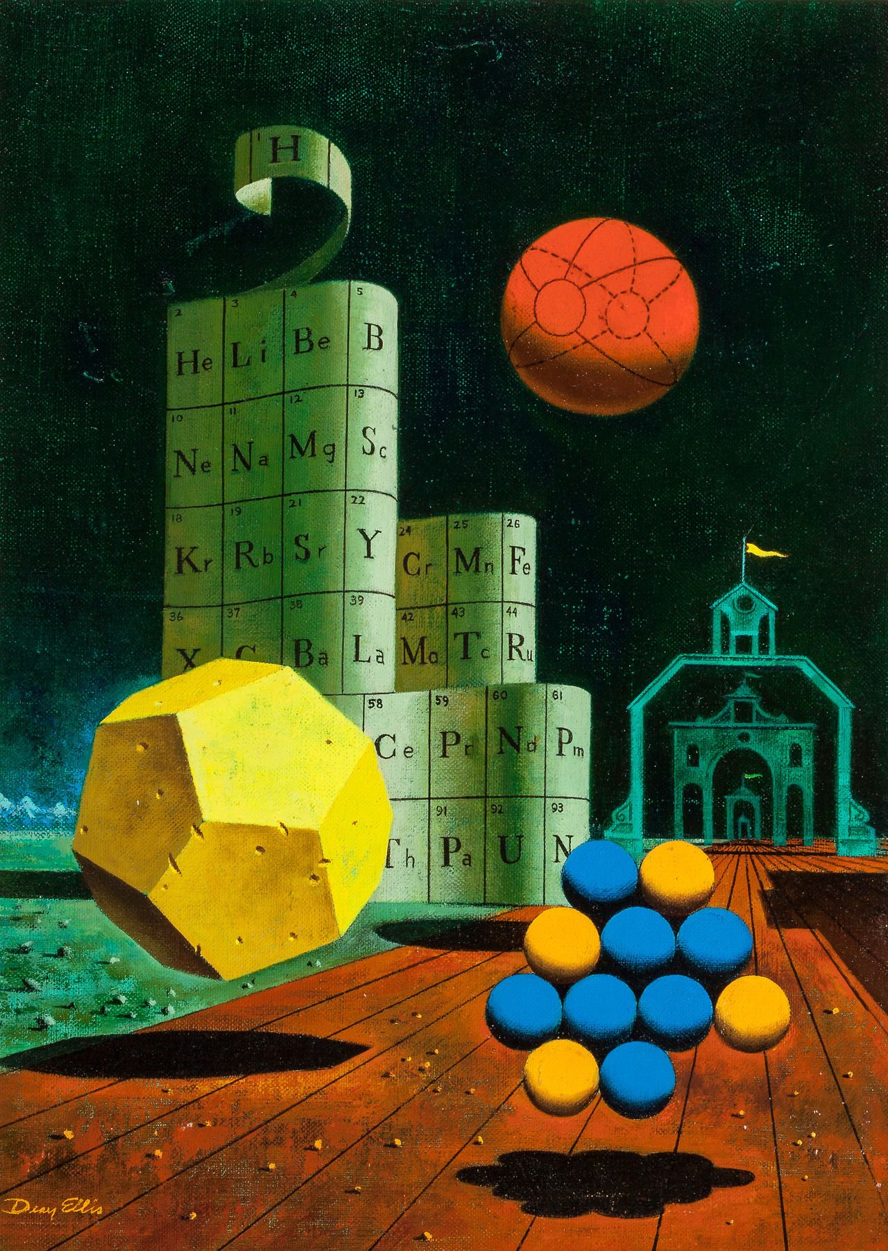 Dean Ellis cover art for the 1965 mathematics book, One