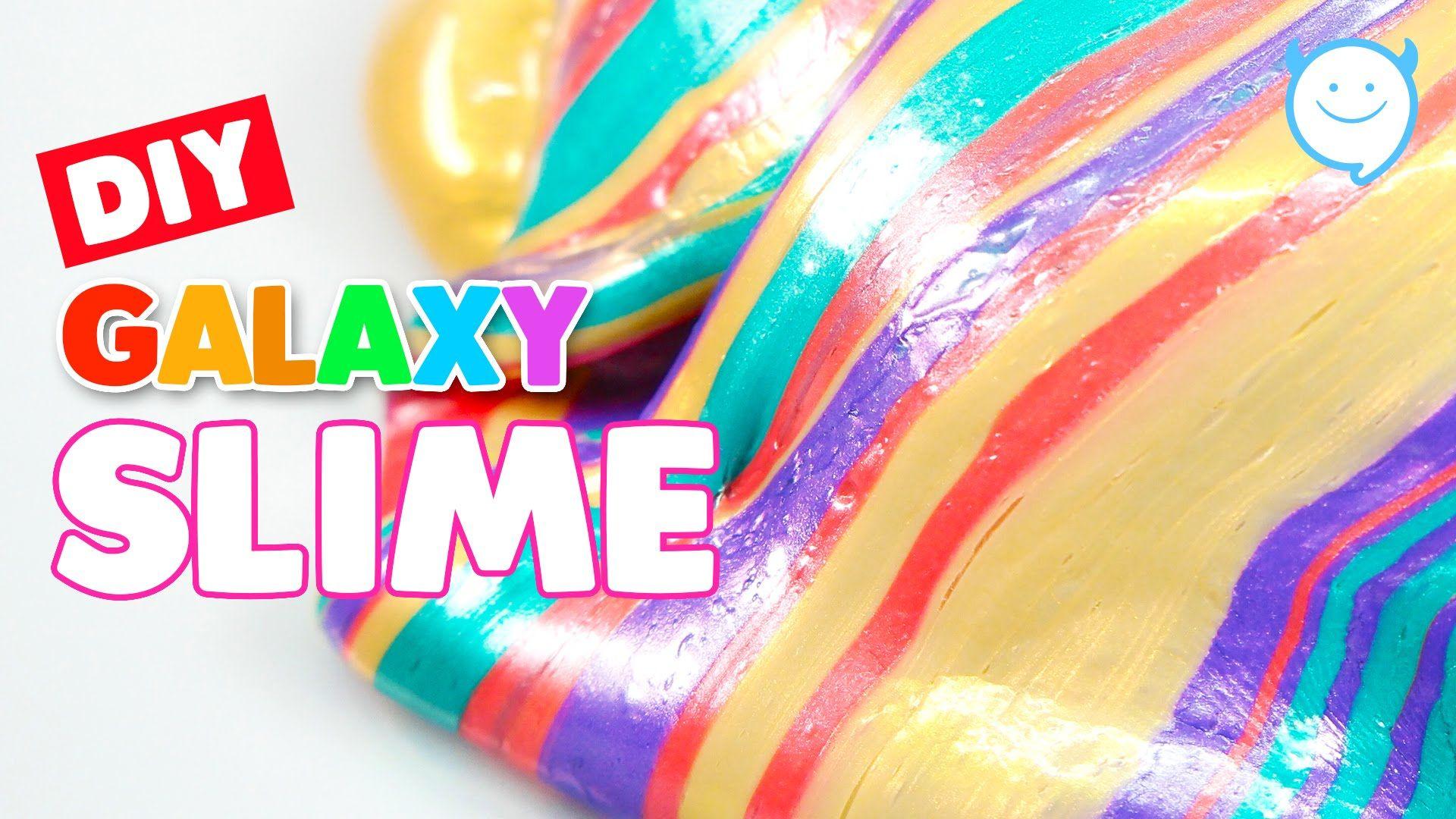 How To Make Rainbow Galaxy Slime  Metallic Slime !