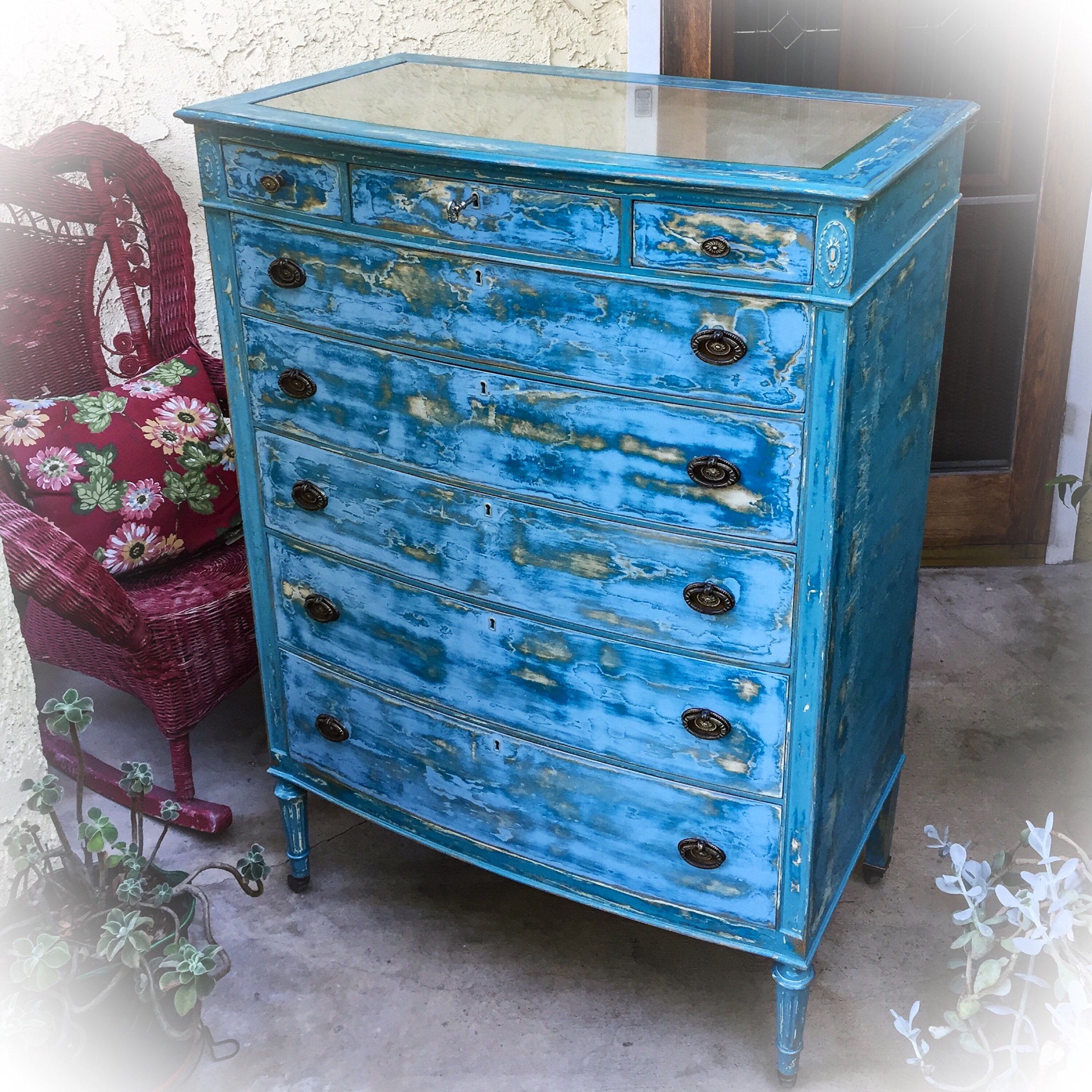 about distressed barn after red this room for i before exact thinking french dresser have pin living chest blue sea