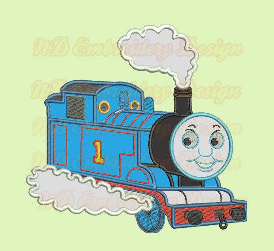 Thomas Train Machine Applique Embroidery Design Tank Engine