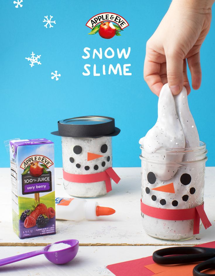 Get your slime on with this ooey gooey slime snowman. Use simple household ingredients to create this adorable and squishy craft.