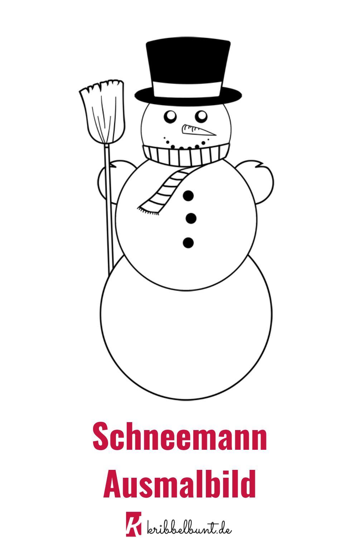 Schneemann Ausmalbild Fur Kinder Zu Weihnachten Schneemann Basteln Vorlage Basteln Mit Kindern Winter Schneemann
