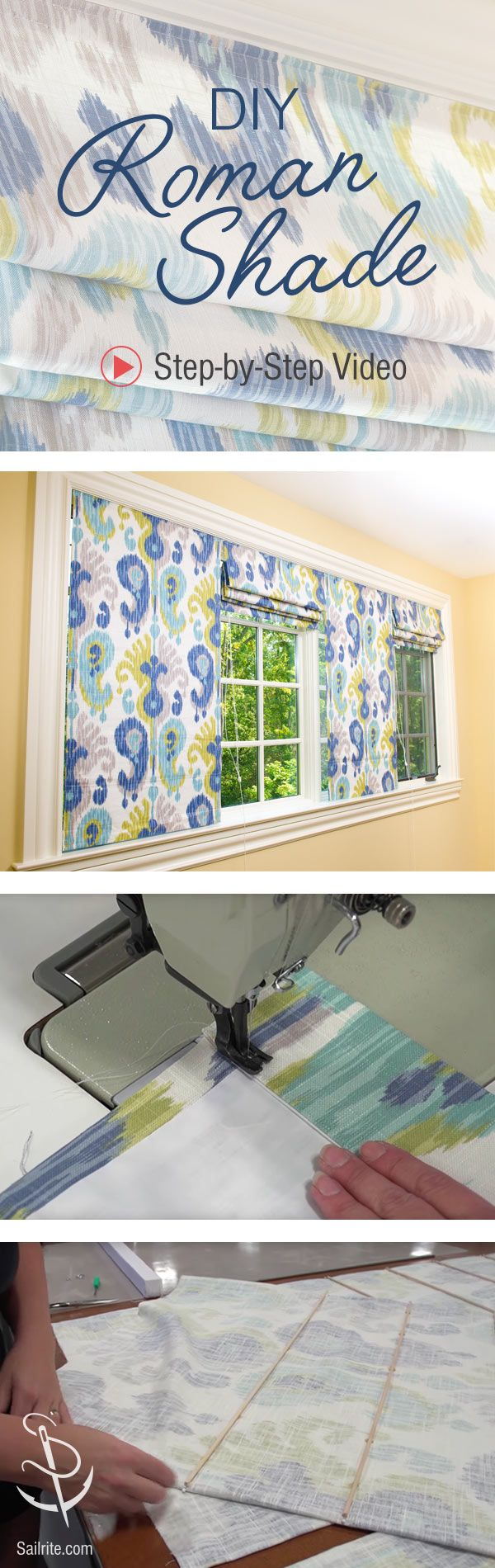 How To Make A Roman Shade Video Diy Roman Shades Diy