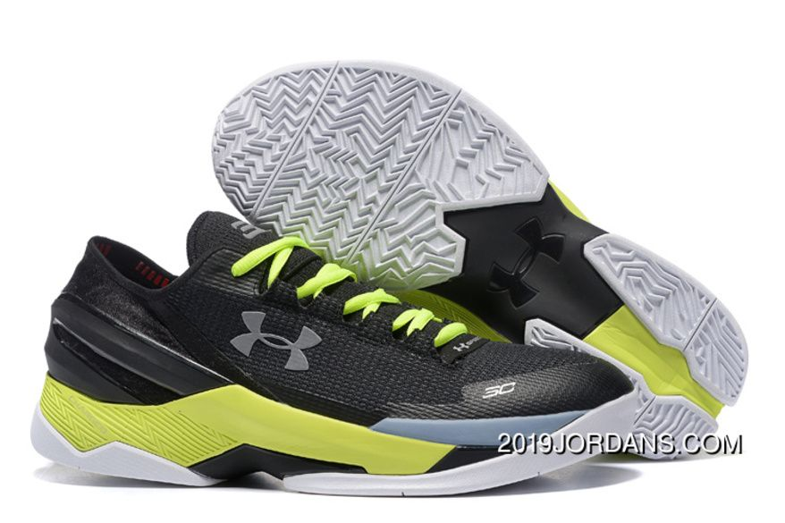 Under Armour Curry 2 Low Custom Black White Yellow Sneaker Online in ... c22df51e3348