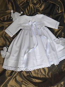Taufkleid Taditionell Fuer Fruehchen Junge Maedchen Baumwolle Gr 32 38 44 48 Taufe Kleidung Taufkleid Blumenmadchen Kleid