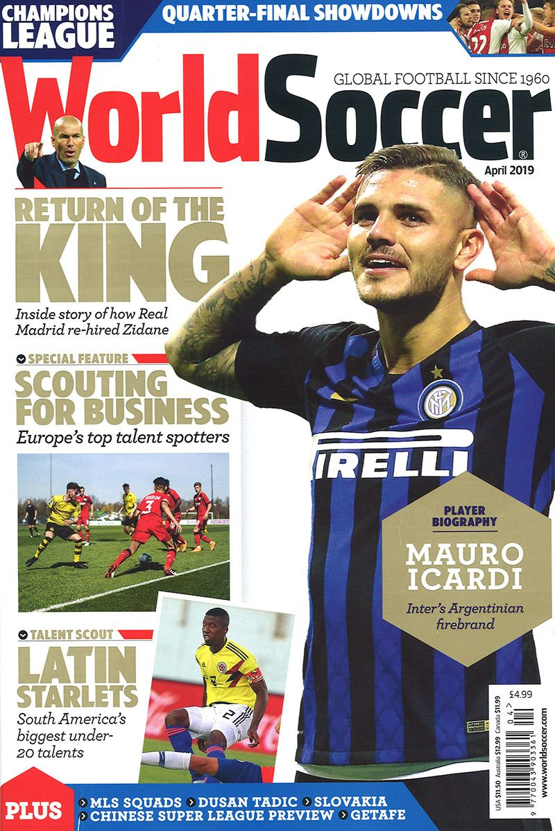 World Soccer April 2019 In 2020 World Soccer Magazine Sports Magazine Covers World Football