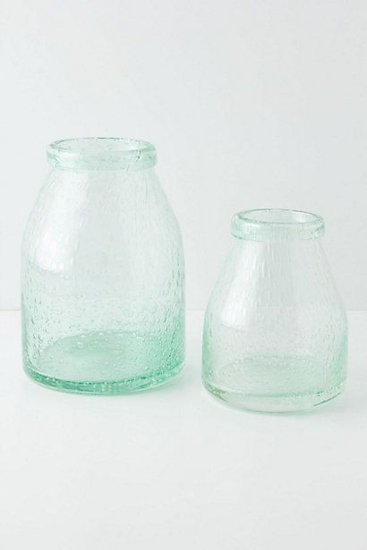 Bubbled Glass Terrarium Green Tinted Glass Provides The Perfect
