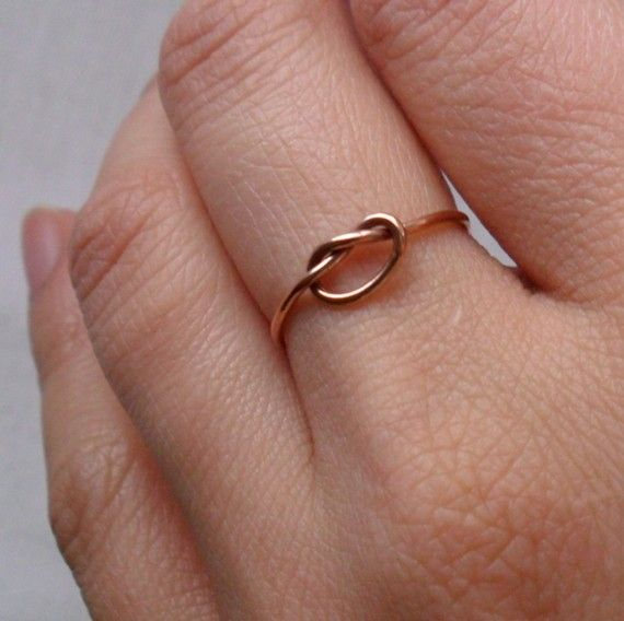 Knotted Up In You Rustic Rose Gold Filled Stacking Ring