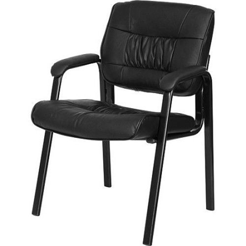 Office Customer Chair Home Waiting Room Guest Reception Thick Padded Seat Black S Pinterest