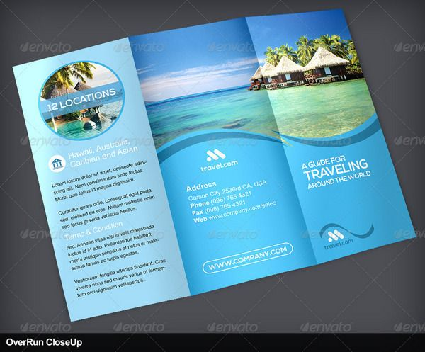 Travel And Tourism Brochure Templates  Magasine Voyage