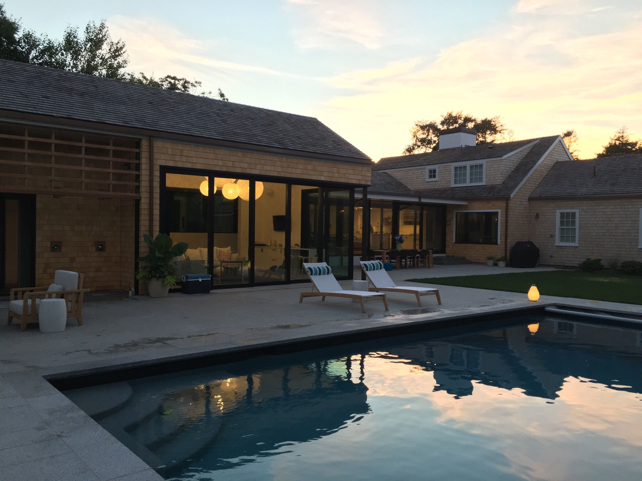 Pool House Extension Mooi Random Lights Sunbrella Fabric With