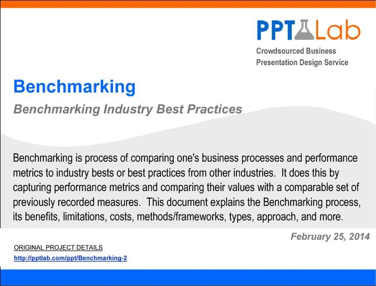 Benchmarking Industry Best Practices Financial statement