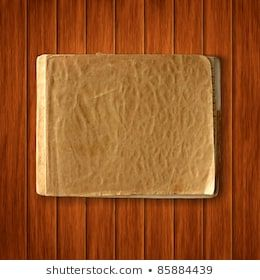 Vector old blank notebook on wood texture background. scrapbook vintage template #woodtexturebackground