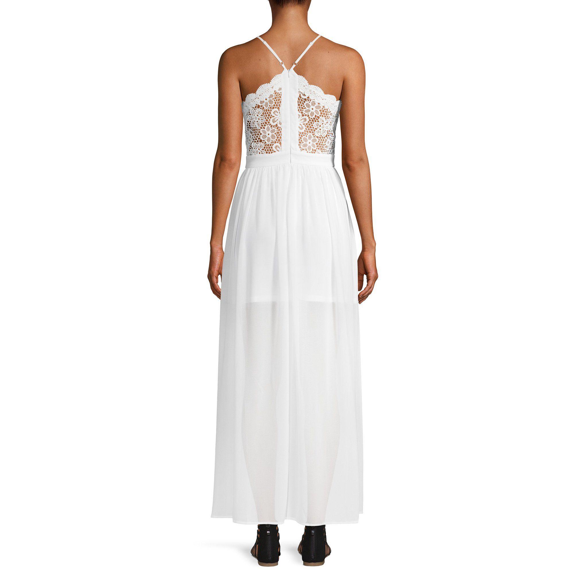 No Boundaries No Boundaries Crochet Trim Dress Walmart Com Crochet Trim Dress Dresses Sleeveless Maxi Dress [ 2000 x 2000 Pixel ]