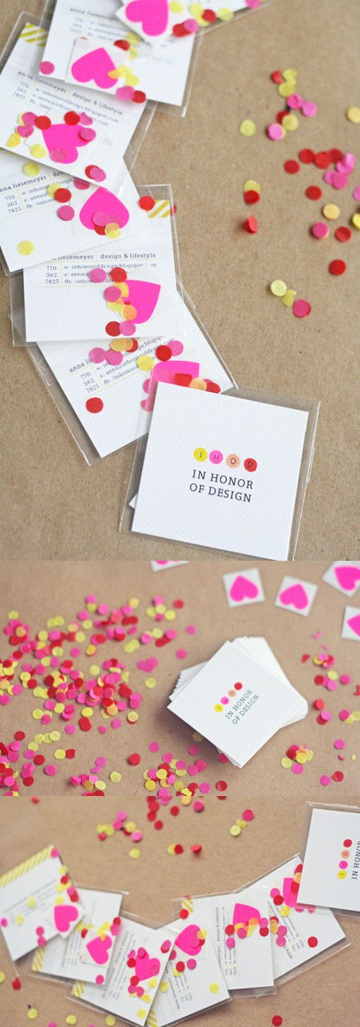 sweet interactive diy business card design for a blogger