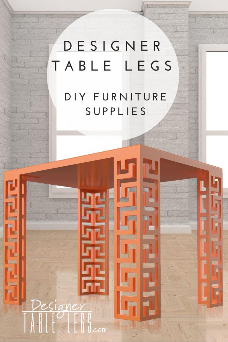 Interior Design Supplies Odyssey Greek Key Orange Table Legs  Diy Furniture Supplies For