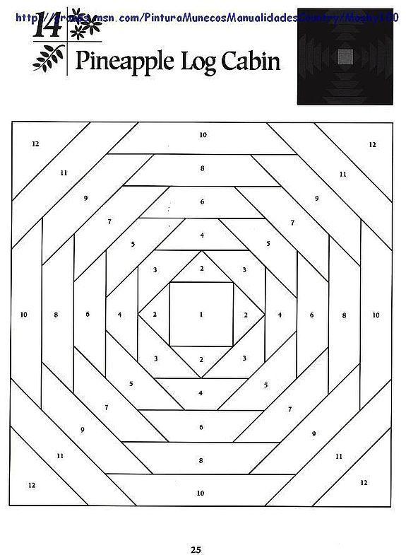 Шаблоны для пэчворка 101 Foundation-Pieced Quilt Blocks