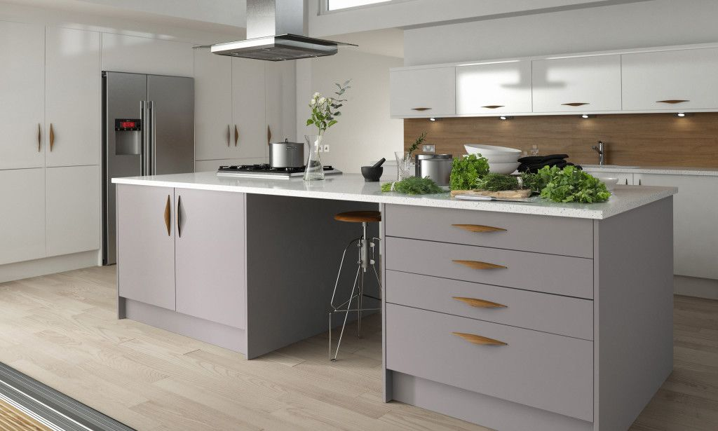 Wren kitchens Contour Kitchen in Damson and Linen image 1   Home ...