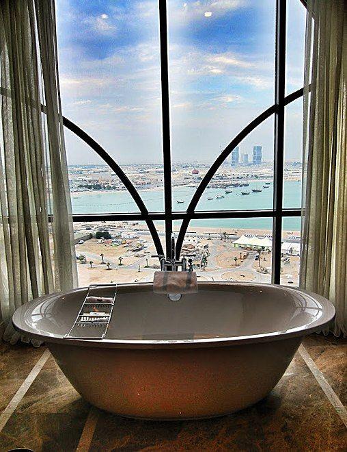 hotel photos: bathtubs with a view   qatar   luxury rooms, bathtub