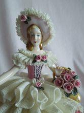 PERFECTION: Stunning Dresden Flower Lady Figurine