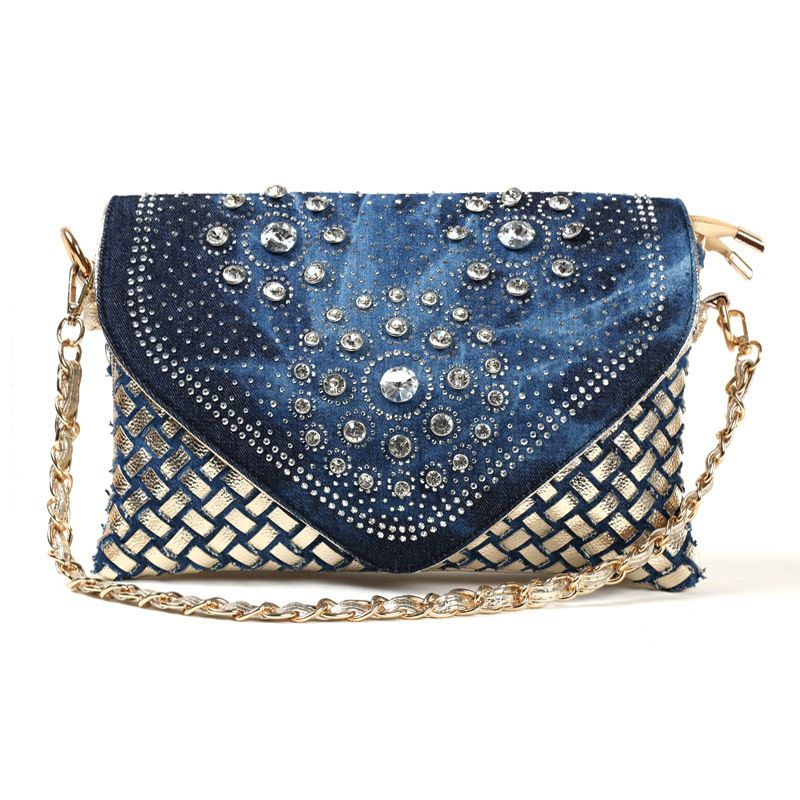 handbag purse display stand Picture - More Detailed Picture about Denim+PU leather diamante women's shoulder bag ladies handbags tote chain bags female bolsas feminina bag bolso mujer MAGIC 3461 Picture in Shoulder Bags from Happy resources store | Aliexpress.com | Alibaba Group