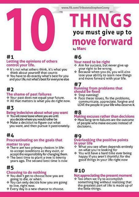 Things: Workout and New Vocabulary 10 things to give up to move forward...........I Really need to read this every day and nite!!10 things to give up to move forward...........I Really need to read this every day and nite!!