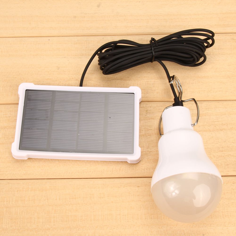 Solar Panel Light Camping Portable Led Bulb Lamp Outdoor 150lm Lighting Camp Tent Night Fishing Lamp Larten Hook Bulbs Solar Panel Lights Lamp Bulb