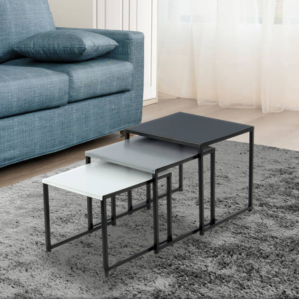 Beistelltisch South 3er Set Ausgeklugeltes Platzsparendes Design 3 Teiliges Beistelltisch Set Mit Stabile Beistelltisch Beistelltisch Mit Stauraum Wohnen