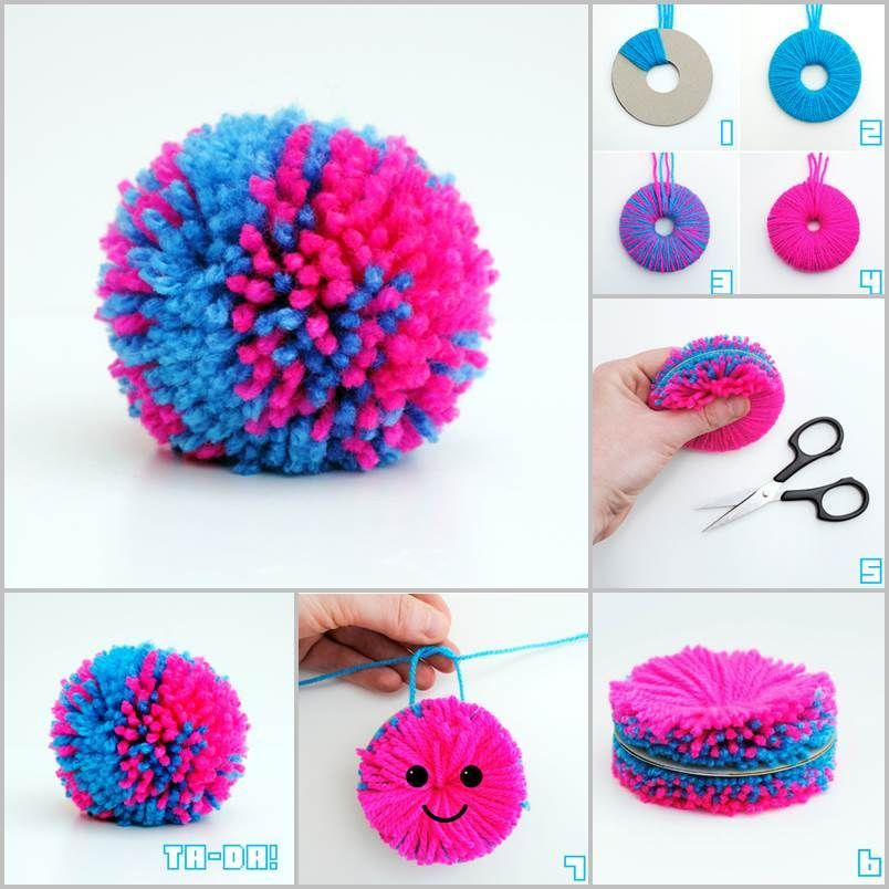 Pom poms are great for decorations because they come in many colors, sizes,  and
